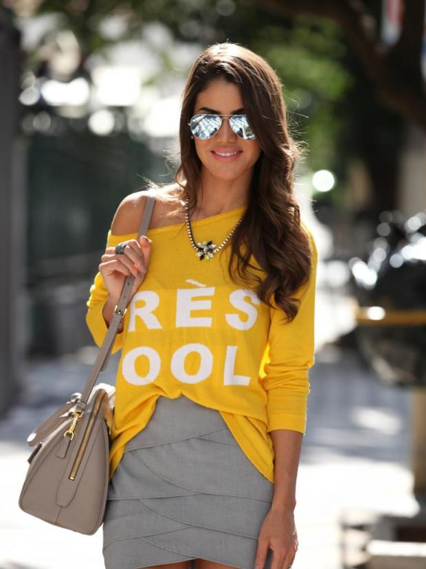 ♥  Get dressed up: Yellow trend with Cami Coelho