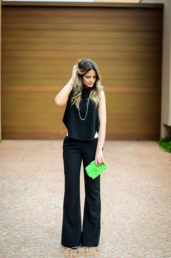 ♥ Black and a green Chanel bag to charm things up by Thassia