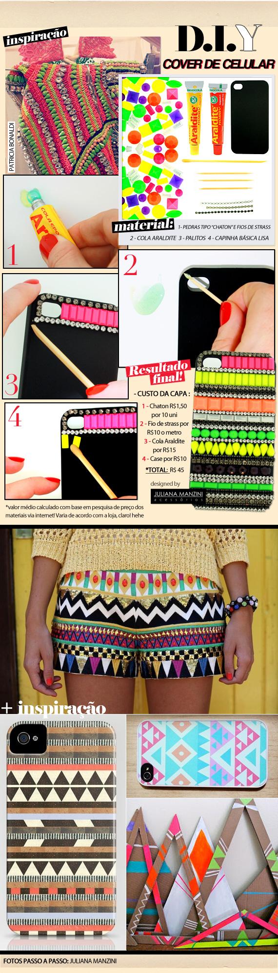 ♥ DIY: Aztec cellphone case