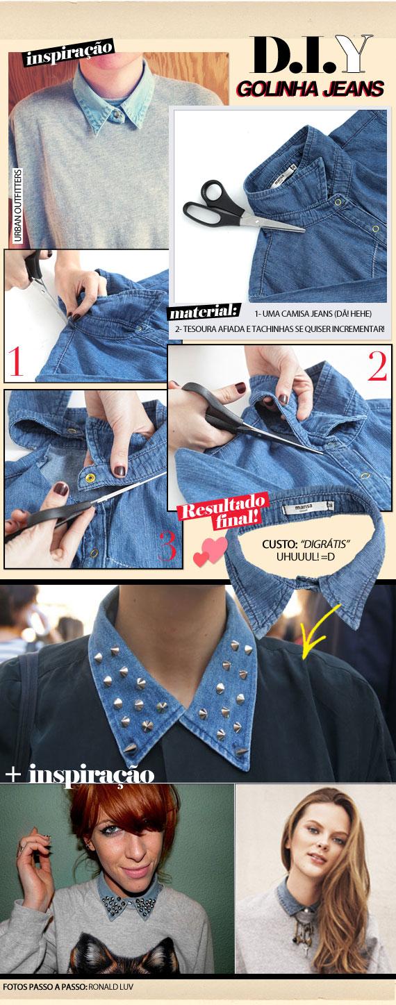 ♥  DIY: Denin Collar