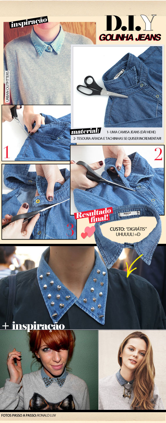 ♥  DIY: Denin Collar