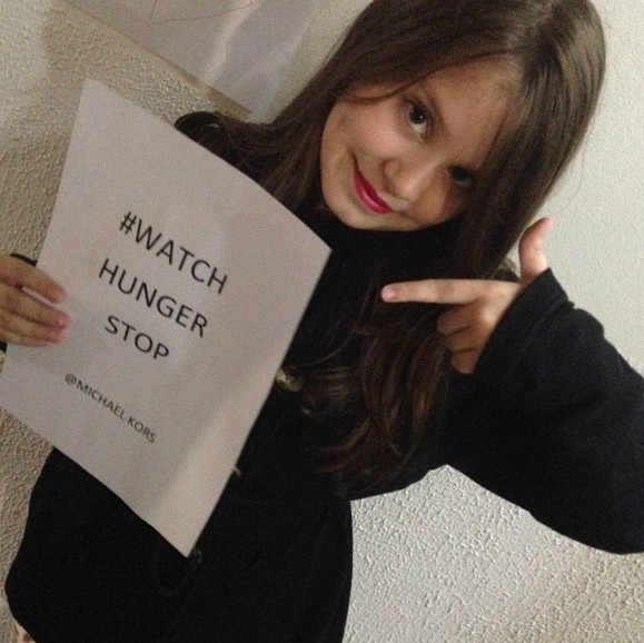 ♥  My princess and mini divahhh supports too ! Help us stop wordwide hunger, post a picture with the   hashtag #watchhungerstop