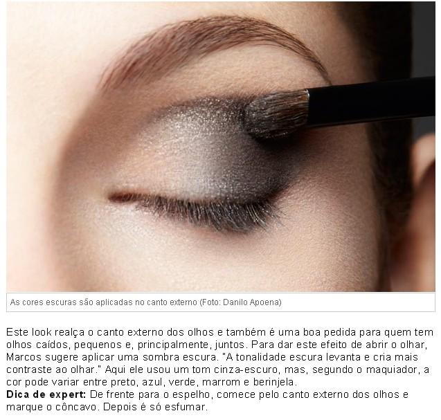 ♥ Make linda com delineador colorido by Marcos Costa - passo 1