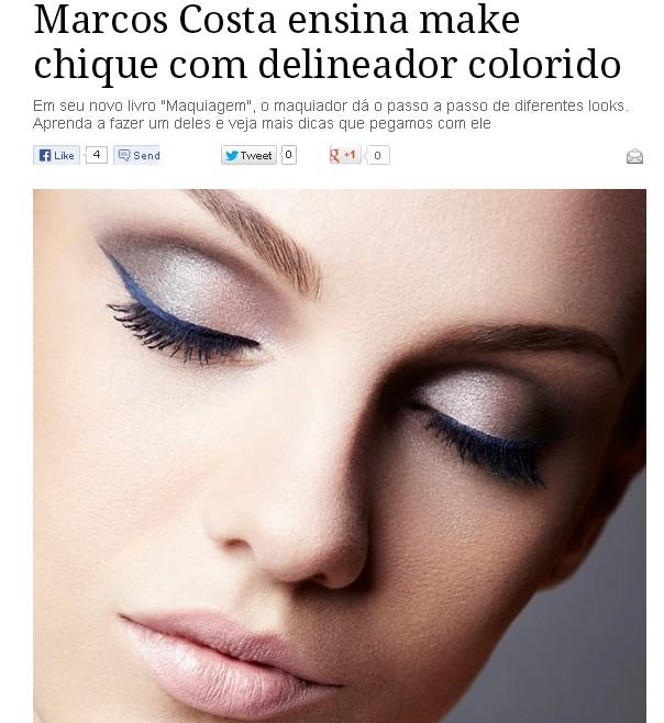 ♥ Make linda com delineador colorido by Marcos Costa (passo a passo)