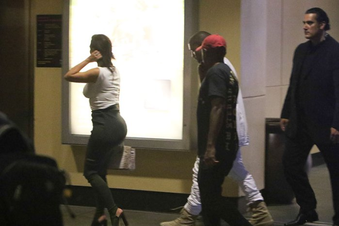 Kim Kardashian and Kanye West leave Khloe's 32nd Birthday Bash